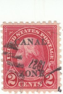 Canal Zone, Scott #97 - 2c Carmine - Used - Overprint Type B