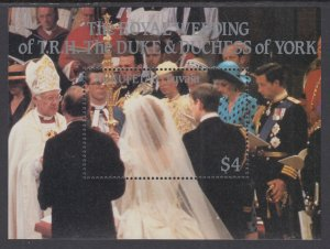Tuvalu Nukufetau 60 Royal Wedding Souvenir Sheet MNH VF