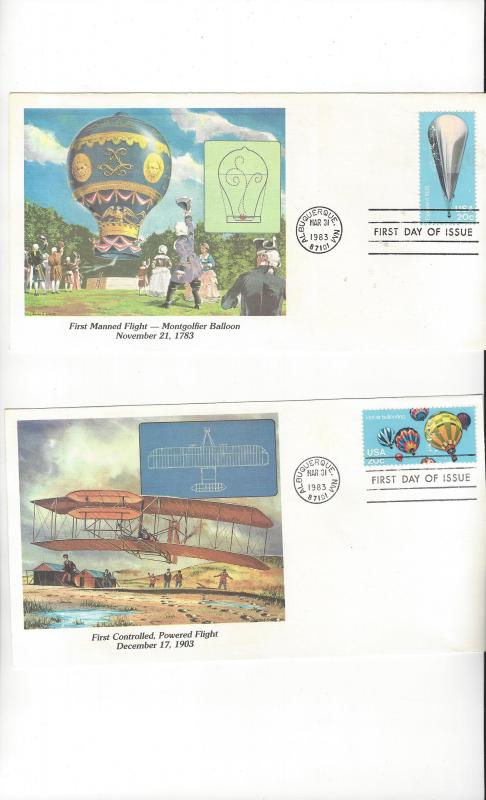 United States.  Fleetwood Cachet of Man's Conquest of the Heavens 1983 FDC