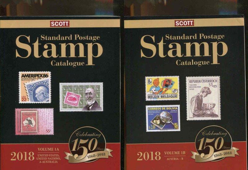 Scott 2018 Standard Postage Stamp Catalogue Vol. 1A & 1B - US,UN & Countries A-B
