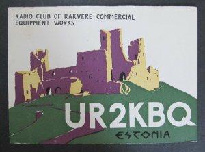 5884 Amateur Radio QSL Card Radio Club of Rakvere Estonia