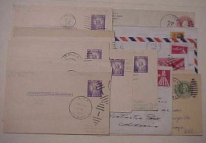 HAWAII  17 DIFF.  TOWN CANCELS CARDS & COVERS FROM 1930's