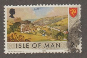 Isle of man 15 Painting of Laxey village