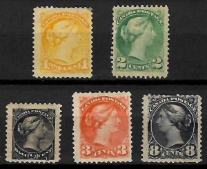 Canada #34 to 36, 41, 44 Mint LH C$675.00 (#34 NH and #35 has a fold)