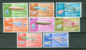 MALDIVES AIR, ZEPPELLINS, CONCORDE  #266-273...SET...MNH...$26.00
