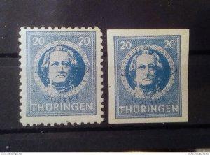 Germany Thuringen 98AX mnh
