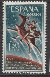SPAIN SG1809 1966 17th INTERNATIONAL ASTRONAUTICS FEDERATION CONGRESS MNH