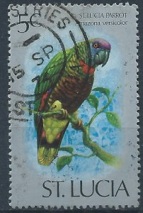 St Lucia 1976 - 5c Amazon Parrot - SG418 used