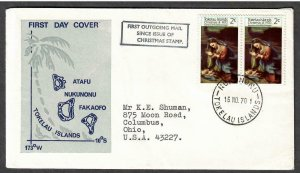 Tokelau Islands # 21 ( pair ) on First Outgoing Mail - I Combine S/H