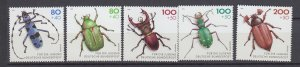 J29726, 1993 germany set mnh #b745-9 insects