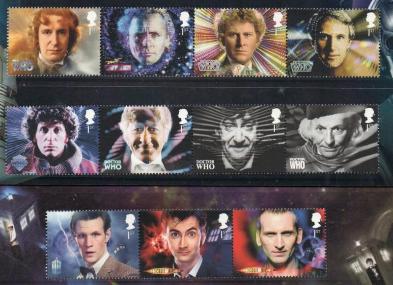 Great Britain Sc 3141-51 2013 Dr Who stamp set mint NH