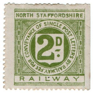 (I.B) North Staffordshire Railway : Letter Stamp 2d