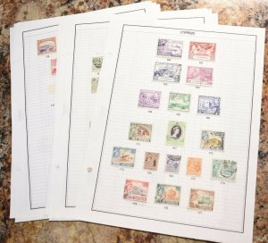 CYPRUS OLD UNCHECKED STAMP COLLECTION ON ALBUM PAGES  - ZZ965