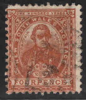 New South Wales Scott 113 Used orange brown 1908 stamp