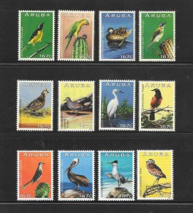 BIRDS - ARUBA #429a-l   MNH