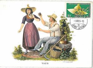 15629  WINE : MAXIMUM CARD - SWIZZERLAND 1955