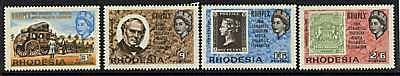 Rhodesia 237-40 MNH Sir Rowland Hill, Stamp on Stamp, Horses, Queen Elizabeth