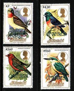 Aitutaki-Sc#O34-O37-used Birds-1986-