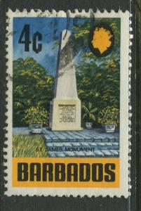 Barbados -Scott 331 - Definitives - 1970 - Used - Single 4c Stamps