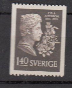 J25650 JLstamps 1955 sweden hv of set mh #485 poet