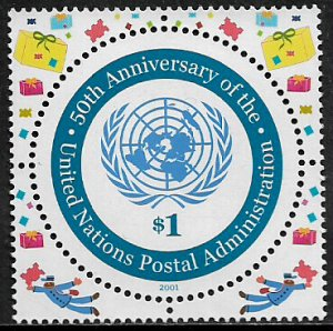 United Nations #811a MNH Stamp - Un Postal Administration