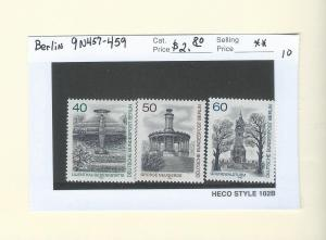 Germany Berlin 9N457-459  MNH