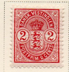 Danish West Indies Sc 29 1903 2c Coat of Arms stamp mint