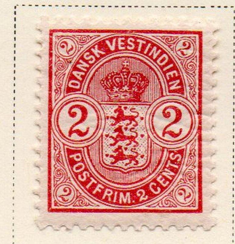 Danish West Indies Sc 29 1903 2c Coat of Arms stamp mint