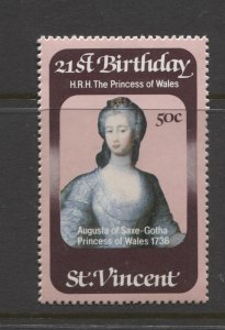 STAMP STATION PERTH St Vincent #647 Princess Diana 21st Birthday MNH 1982