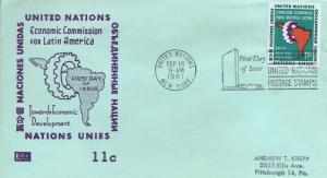 UN #94 11c ECONOMIC AID LATIN AMERICA 1961 - Kolor Kover