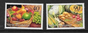 NEW ZEALAND SG2519/20 2002 FRUIT & VEGETABLES MNH
