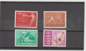 Vietnam  Scott#  272-275  MH  (1965 Sports)