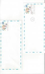 United Nations UC 10a, Air Mail Envelope,  Mint & No Cachet FDC
