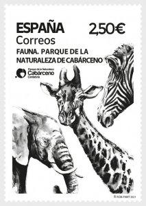 Stamps Spain 2021- Fauna 2021 - Cabarceno Nature Park - Mint.