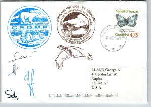 Greenland 1998 Arctic Expedition Cover / Team Signed - Z13761