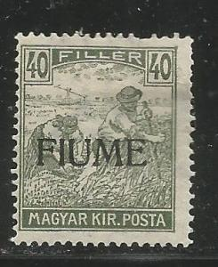 FIUME  12a  HINGED, HUNGARIAN STAMPS OF 1916-1918, COLORED NUMERALS, OVERPRINTED