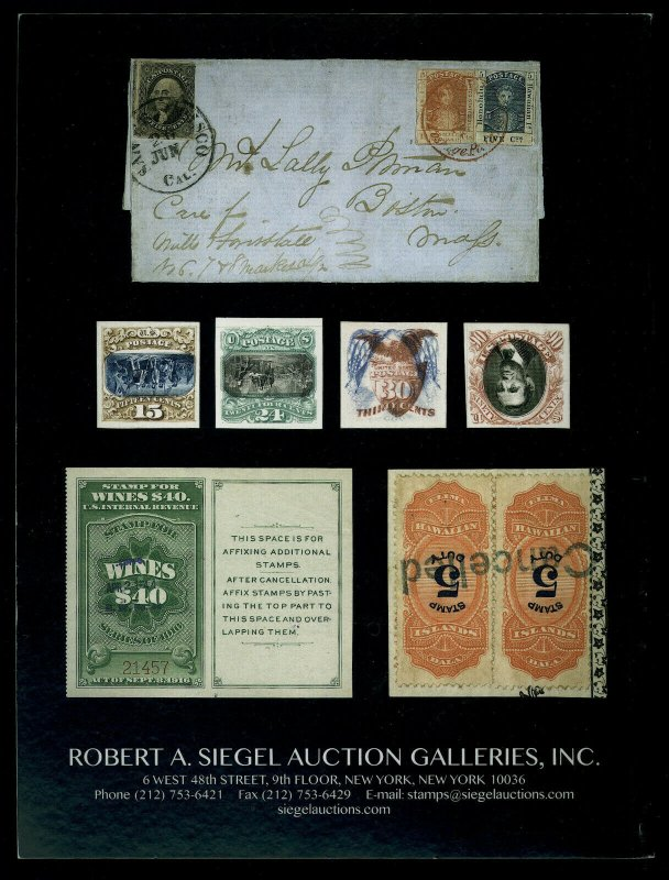 Siegel Auction Catalog: Sale 1179, U.S. & Possessions feat. Charles H. McNutt