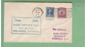 Post Office Day - July 26, 1932 - Orlando, FL