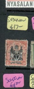BRITISH CENTRAL AFRICA  (PP0406B)  ARMS  4D   SG 34      VFU