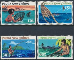 Papua New Guinea 1981 Fishing Set of 4 SG417-420 MNH