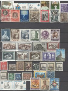 COLLECTION LOT # 43 VATICAN 47 STAMPS CLEARANCE