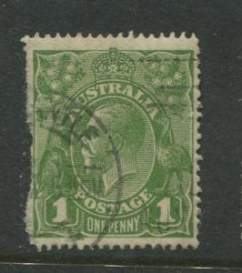 Australia-Scott 67 - KGV Definitive Issue-1926-Wmk 203 -Used -Single 1d stamp
