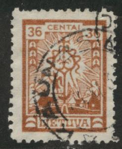 LITHUANIA LIETUVA Scott 204 Used stamps