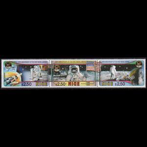 NIUE 1994 - Scott# 668 Moon Landing Set of 3 NH