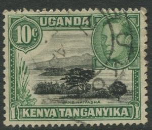 Kenya & Uganda - Scott 70 - KGVI Definitive -1949 - Used - Single 10c Stamp