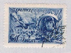 Russia 861 Used Plane and tank 1942 (BP41421)
