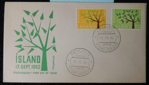 Iceland 1962 FDC europa cept trees good used