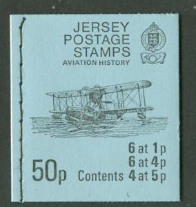 Great Britain-Jersey # 35a,41a,42a Aviation Booklet (1) MNH