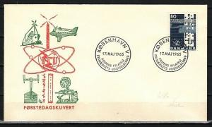 Denmark, Scott cat. 420. Cent`ry of the I.T.U. issue. First day cover.