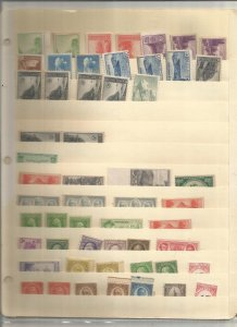 EARLY US COLLECTION ON STOCK SHEET, MINT/USED